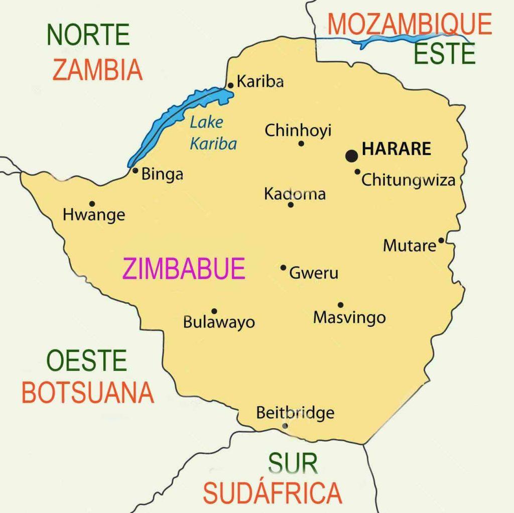 MAPA-ZIMBABUE