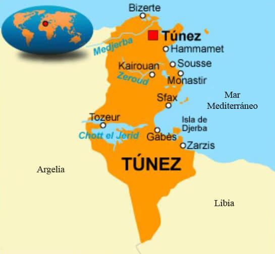 Ubicación-geográfica-Túnez